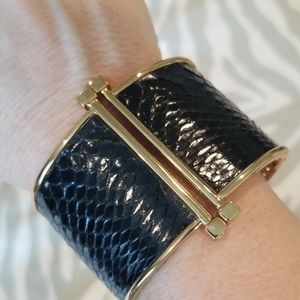 Like New Rachel Zoe Leather Cuff Bracelet